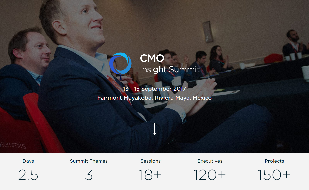 CMO Insight Summit sept 2017